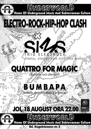 Electro-rock-hip-hop clash