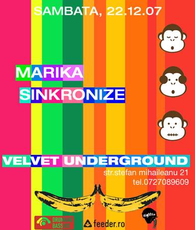 Marika si Sinkronize in Velvet Underground