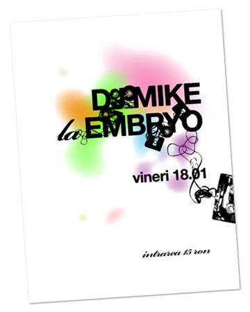 DJ Mike vineri la Embryo
