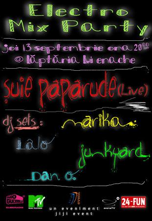 concert Suie + dj sets (Marika, Junkyard and Lalo, Dan o.)