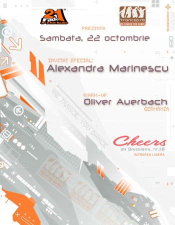 Alexandra Marinescu, Oliver Auerbach @ Cheers Club 22 octombrie