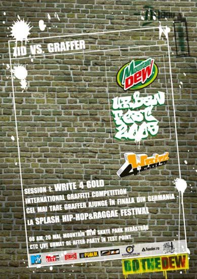 Mountain Dew Urban Fest Write 4 Gold