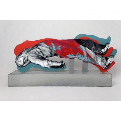 SENS model by John Dot S | acrylic spray stencil on mousse