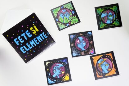 Fete și Elemente / Girls & Elements Sticker Pack by Maria Bălan