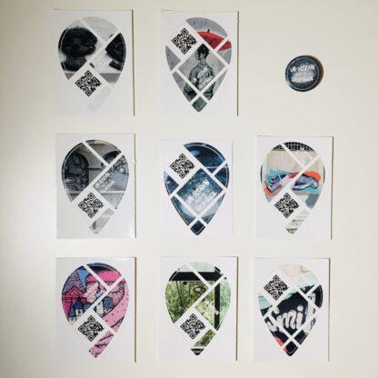 Un-hidden Bucharest set of 8 outdoor stickers