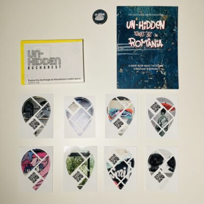 Un-hidden Bundle: book + A2 offset map + stickers + free pin