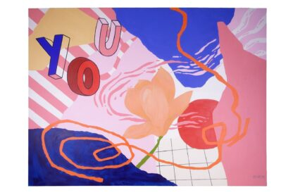 "Digital print reproduction of the ""YOU"" painting by Livi Po 