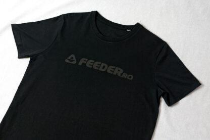 feeder.ro black logo organic heavy round neck t-shirt