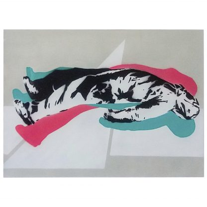 Sens by John Dot S | acrylic spray stencil on paper [Un-hidden Bucharest]