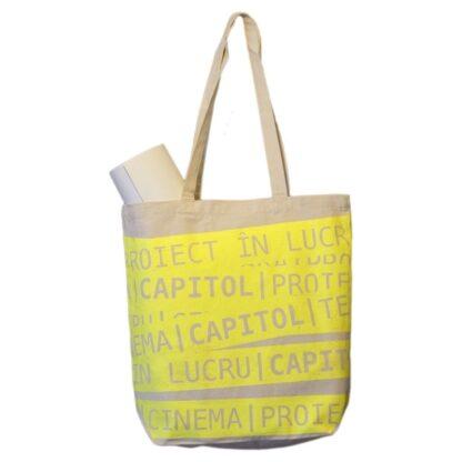 CAPITOL screen-printed organic cotton tote bag