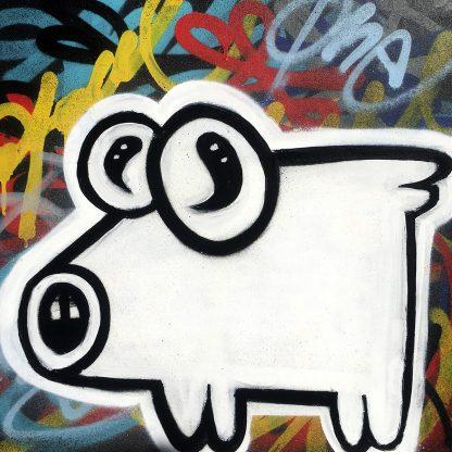 Street merchandise (Marfă de stradă) by AEUL | original spray painting and acrylics on canvas 2021