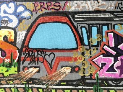București - an original canvas painting by Romanian graffiti artist ERPS