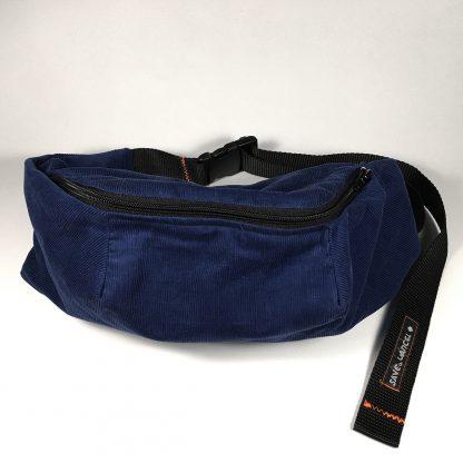 """Login 4"" save or cancel x feeder.ro blue pinwale corduroy fanny pack"