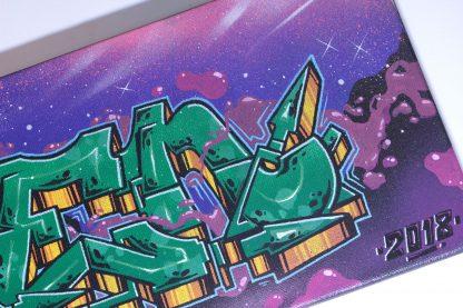 2018 - an original canvas painting by Romanian graffiti artist Nesk