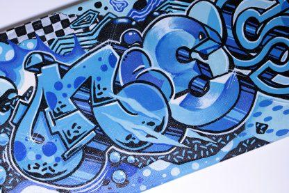 Neeeskkk by Romanian graffiti artist Nesk   original painting on canvas
