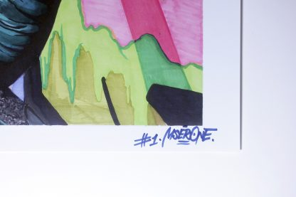 Digital print by Nesk, featuring and signed by Romanian graffiti artist MSER