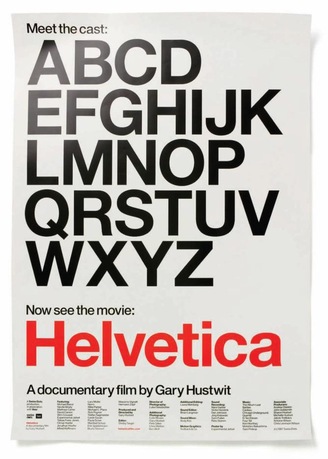Helvetica documentary film poster