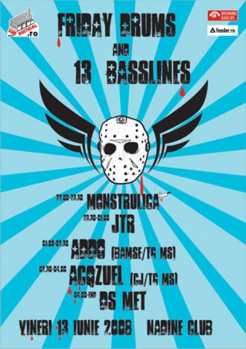 Fryday Drums & 13 Basslines