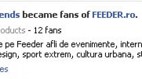Feeder are pagina pe Facebook