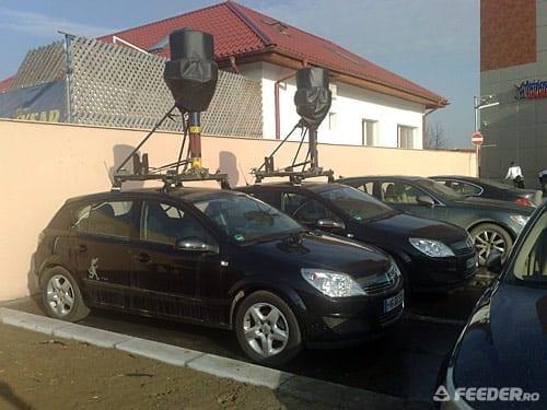 Masinile de la Google Maps in parcarea Rin Grand Hotel Bucuresti