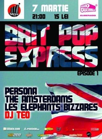 britpop express Persona, The Amsterdams, Les Elephants Bizzares