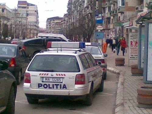 politia targoviste in statia de autobuz