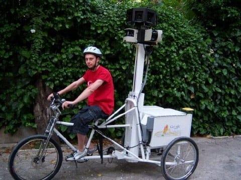 Tricicleta Google Maps Street View