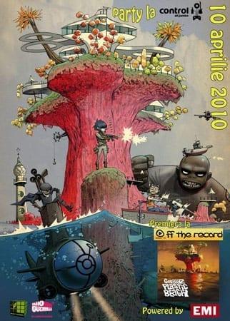 Lansare in Romania Gorillaz - Plastic Beach @ Off the Record & Control