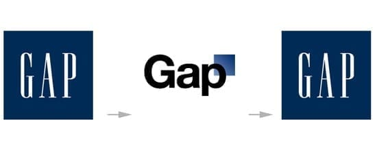 GAP: scurt rebranding