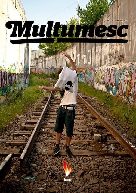 Revista Multumesc fueled by Burn