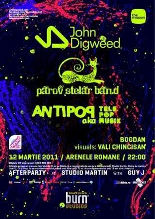 Parov Stelar band, Antipop, John Digweed @ Arenele Romane