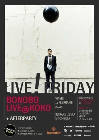 Proiectie BONOBO – LIVE @ KOKO @ Base Cafe