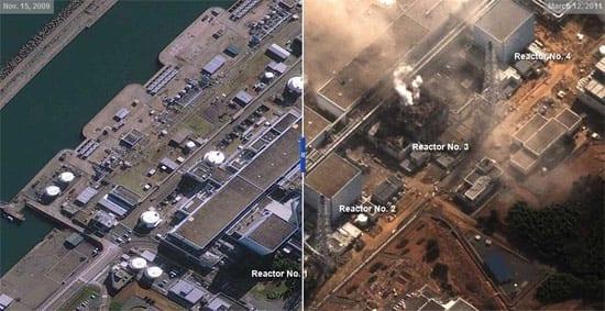 Inainte si dupa dezastrul din Japonia - foto satelit