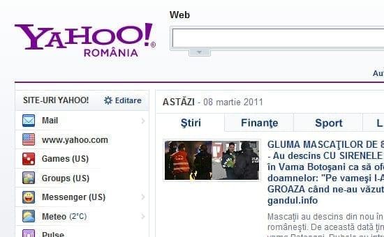 S-a lansat Yahoo Romania • Feeder.ro