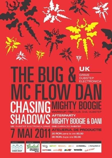 The Bug + Mc Flowdan and Chasing Shadows @ Atelierul de Productie