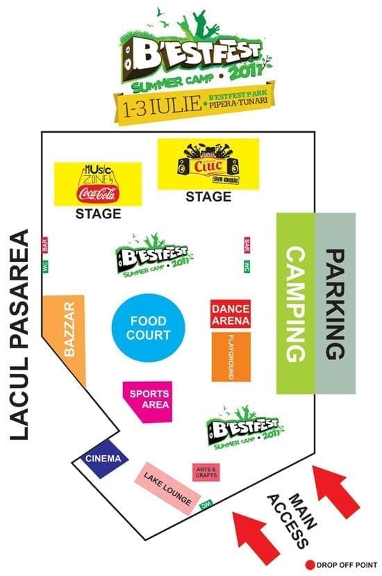 Harta si detaliile locului de desfasurare B'estFest 2011