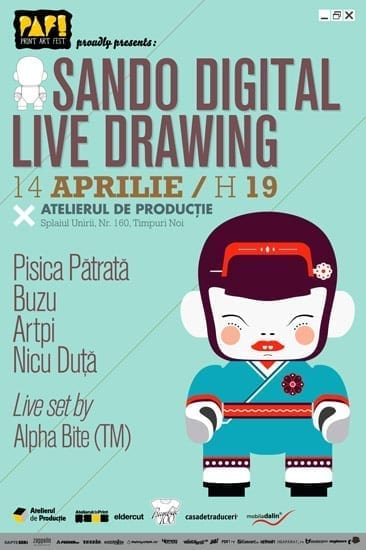Workshop de arta digitala cu Pisica Patrata, Artpi, Buzu si Nicu Duta @ Atelierul de Productie