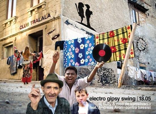 Electro Gipsy Swing cu Nico de Transilvania, DJ Bully si Andreas Aron @ Tralala