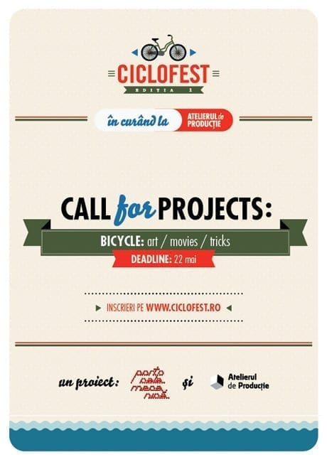 Ciclofest - Call for projects @ Atelierul de Producţie