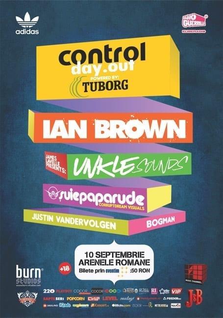Ian Brown, UNKLE Sounds, Suie Paparude la Control Day Out @ Arenele Romane