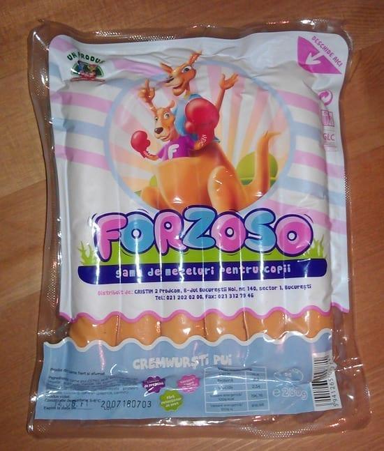 Noul (?) branding al crenvurstilor Forzoso