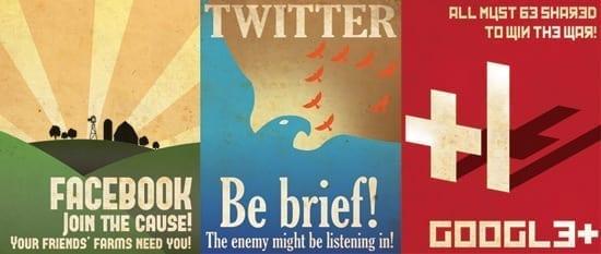 Afise de propaganda social media