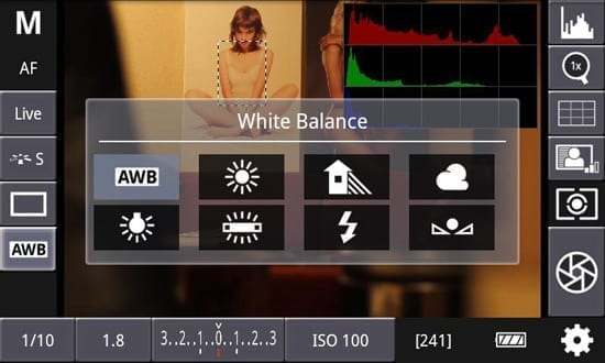 Aplicatie Android prin care poti controla aparatele foto Canon EOS DSLR