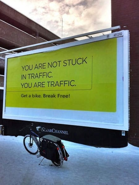 You are not stuck in traffic. You are traffic