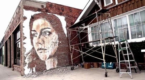 Vhils - Street art cu rotopercutorul