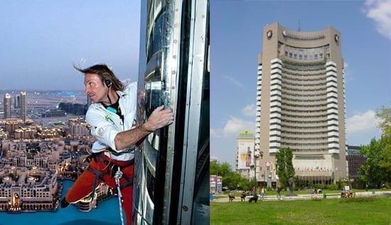 Alain Robert va escalada Hotelul Intercontinental!