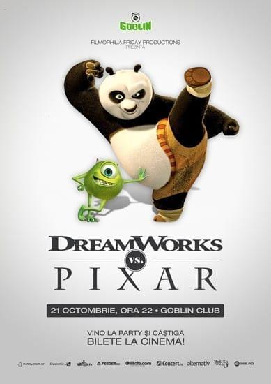 Filmophilia Friday presents: Dreamworks vs. Pixar @ Goblin
