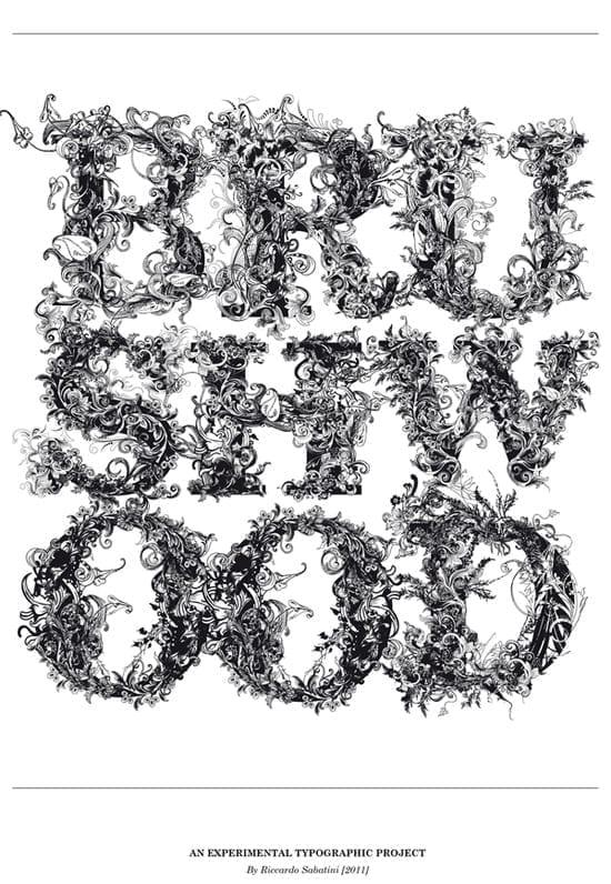 Brushwood - un font f inflorat