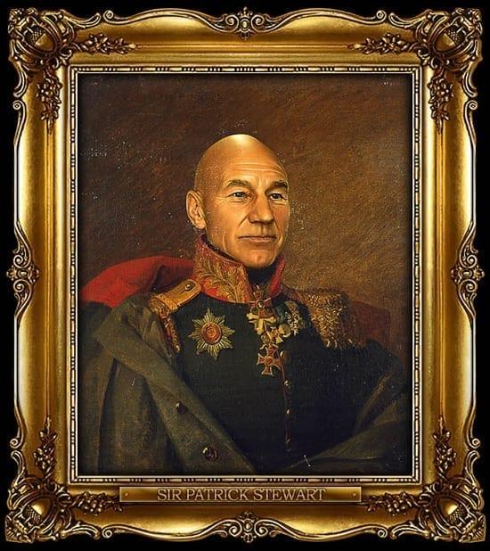 Portretele unor celebritati intruchipand generali rusi