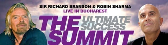 Richard Branson & Robin Sharma la Bucuresti